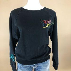Aritzia Wilfred Embroidered Crew Neck Sweatshirt L